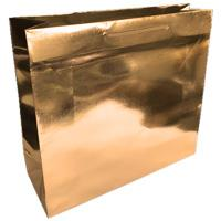 shopper in carta monopatinata goffratura oro metal corda cotone