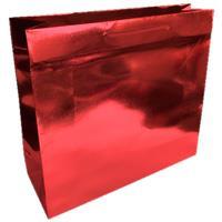 shopper in carta monopatinata goffratura rosso metal corda cotone