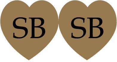 etichetta sagomata cuore doppio gold
