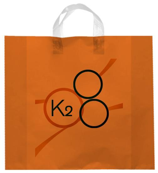 shopper plastica arancio manico elettrosaldato soffietti laterali
