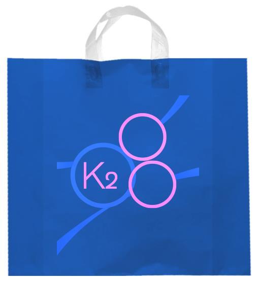 shopper plastica azzurro manico elettrosaldato soffietti laterali