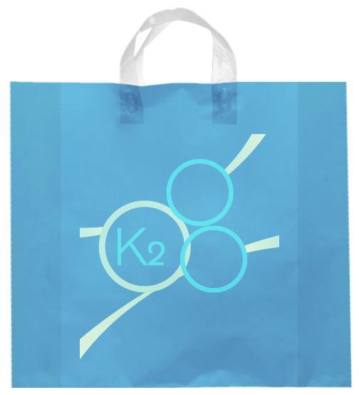 shopper plastica celeste manico elettrosaldato soffietti laterali