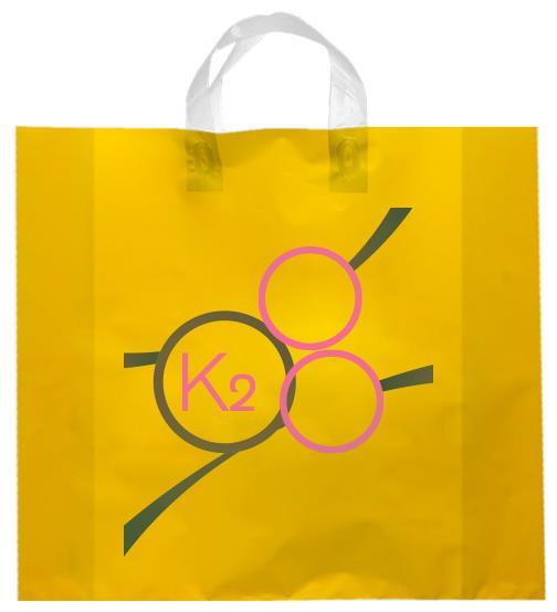 shopper plastica giallo manico elettrosaldato soffietti laterali