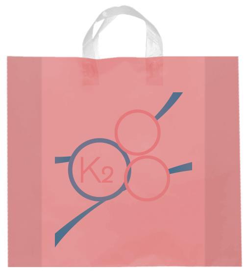 shopper plastica rosa manico elettrosaldato soffietti laterali