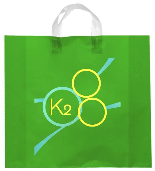 shopper plastica verde manico elettrosaldato soffietti laterali