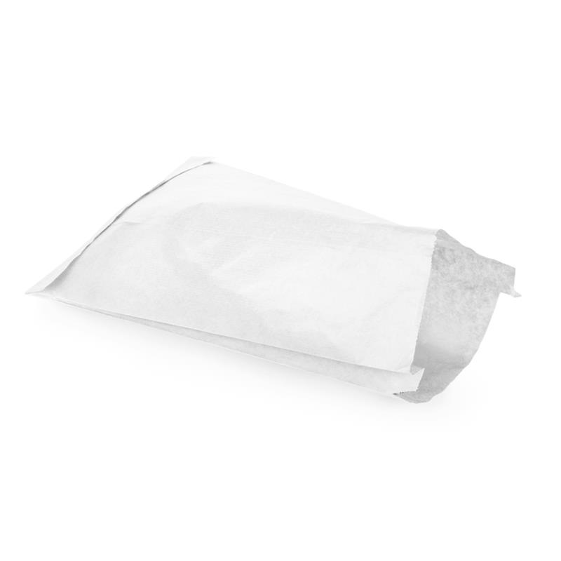 sacchetto per alimenti in carta kraft bianco