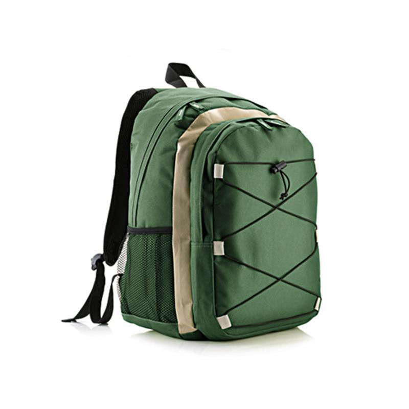 zaino trekking verde e kaki con tasca frontale accessoriata