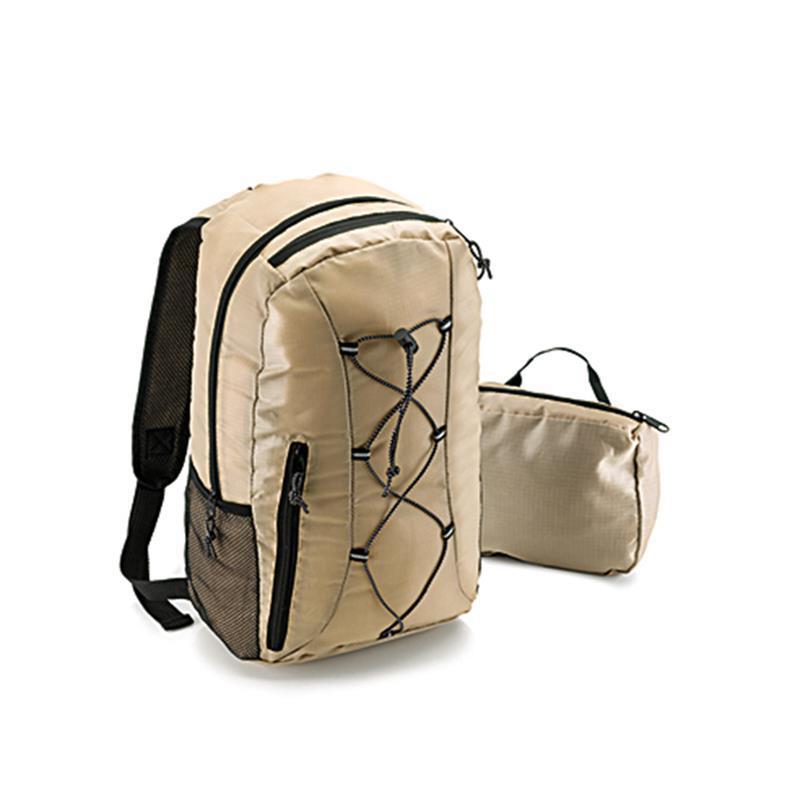 zaino trekking ultra leggero kaki ripiegabile in una tasca