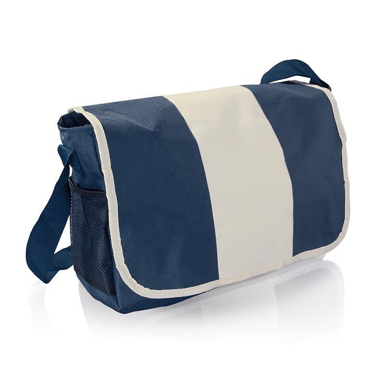 tracolla blu navy vari comparti con zip e tracolla regolabile