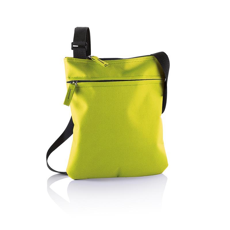 tracollina lime con comparto tasca frontale e tracolla regolabile