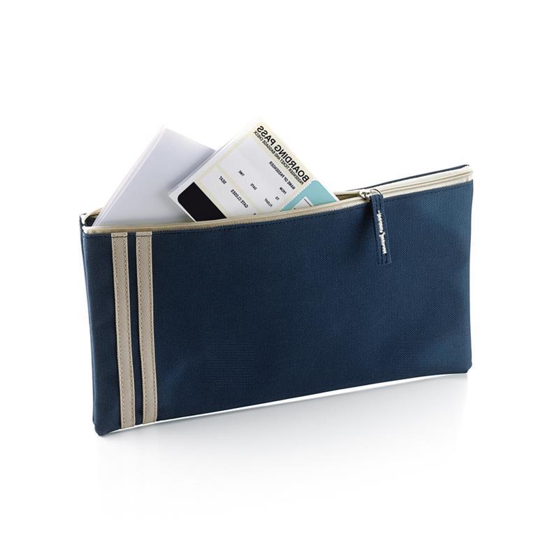 porta documenti con zip e dettagli in contrasto