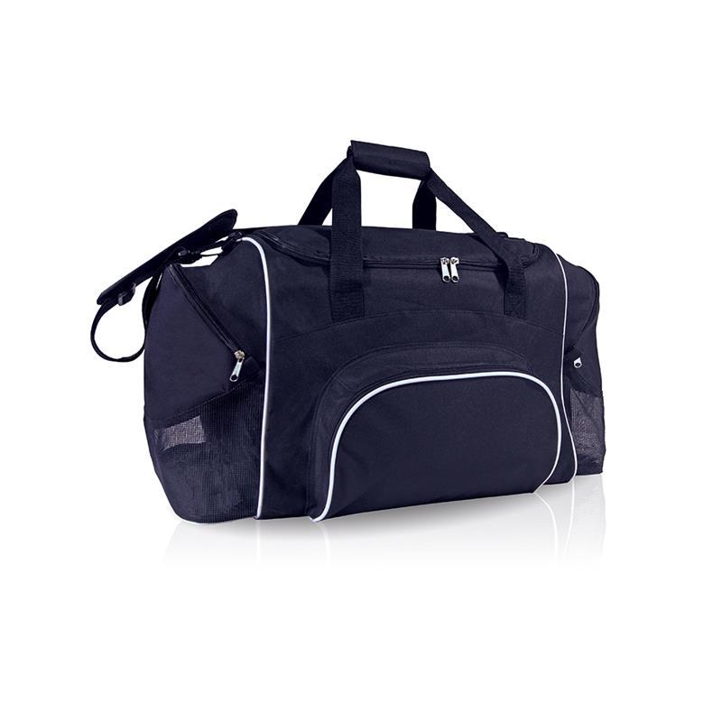 borsa in tessuto blu navy comparto con apertura a pozzetto