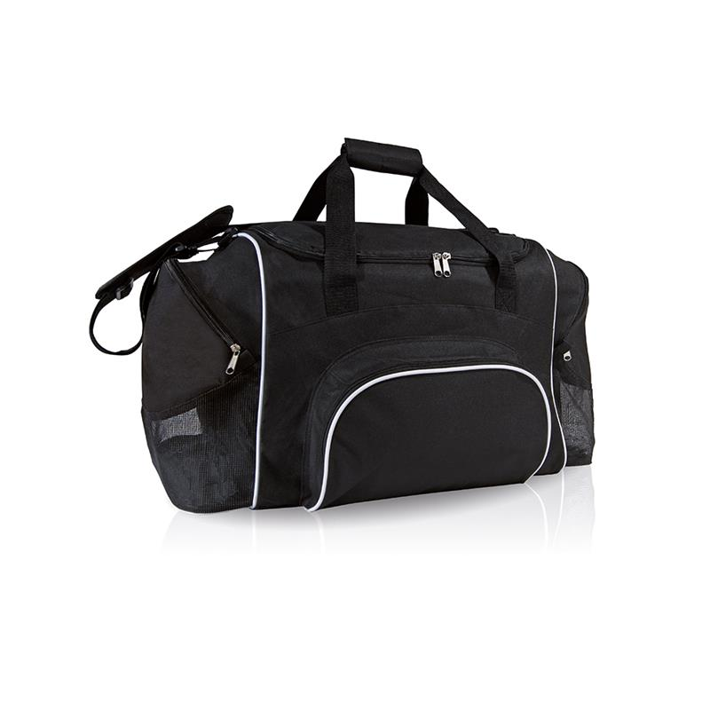 borsa in tessuto nero comparto con apertura a pozzetto