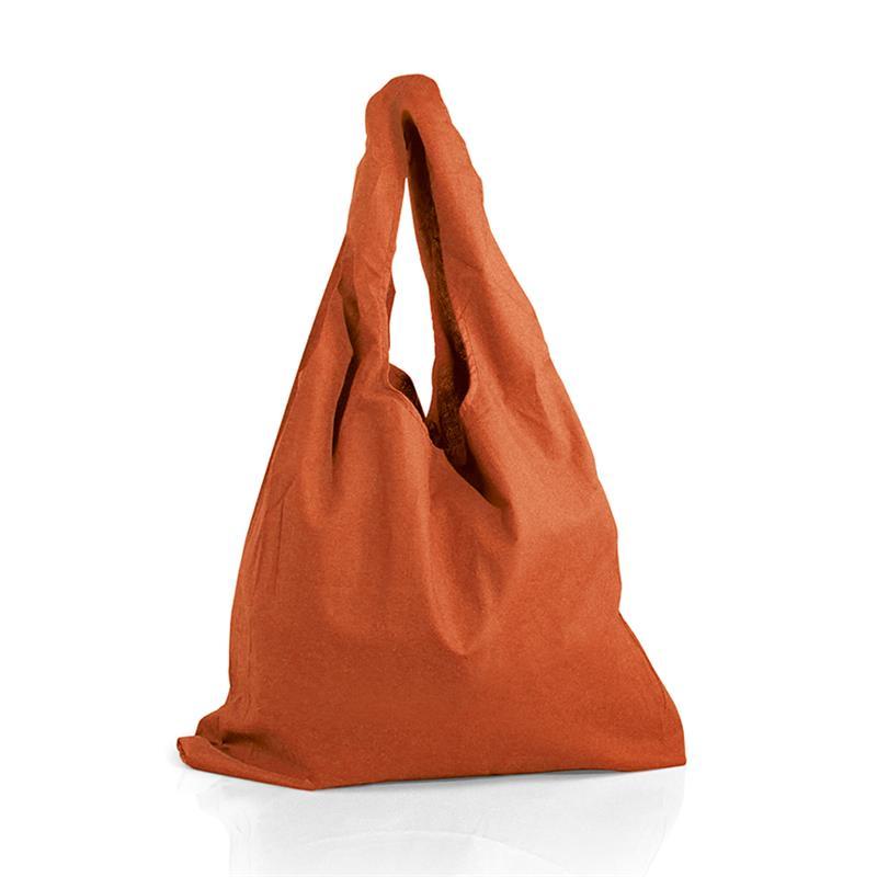 borsa mare in cotone arancio