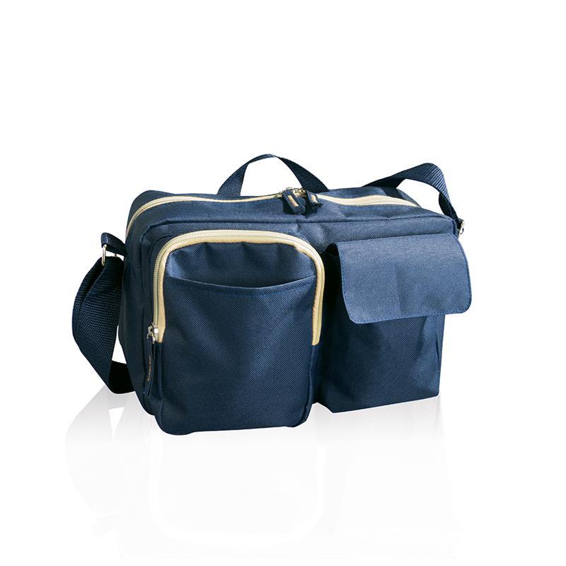 tracolla blu navy comparto con zip e doppia tasca frontale