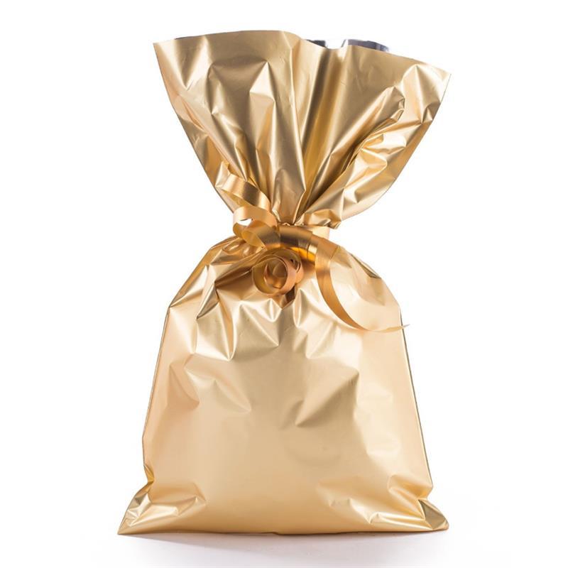 sacchetto in plp oro satinato senza maniglia