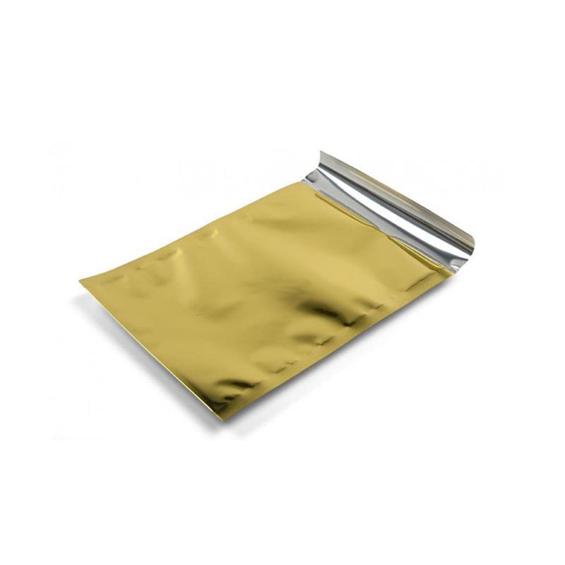 sacchetto in plp oro satinato con patella adesiva