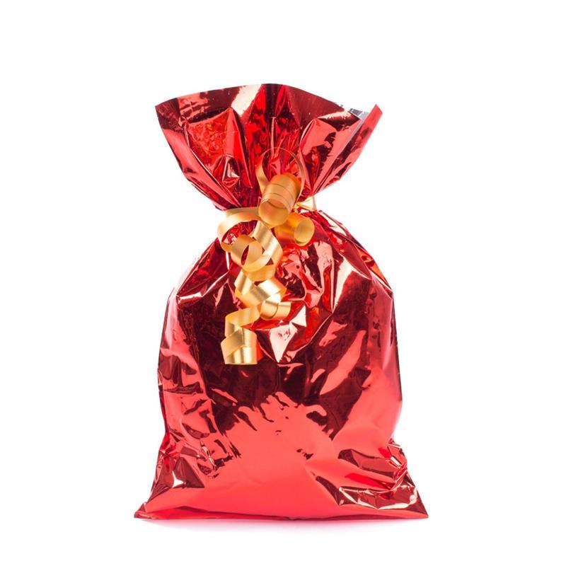 sacchetto in plp rosso metal senza maniglia