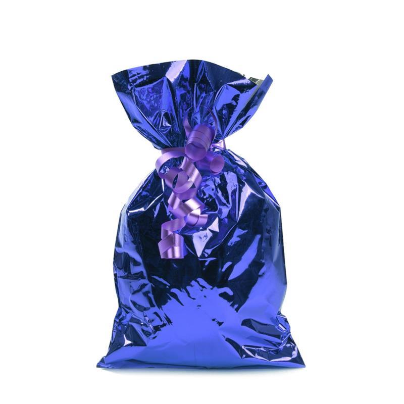 sacchetto in plp blu metal senza maniglia
