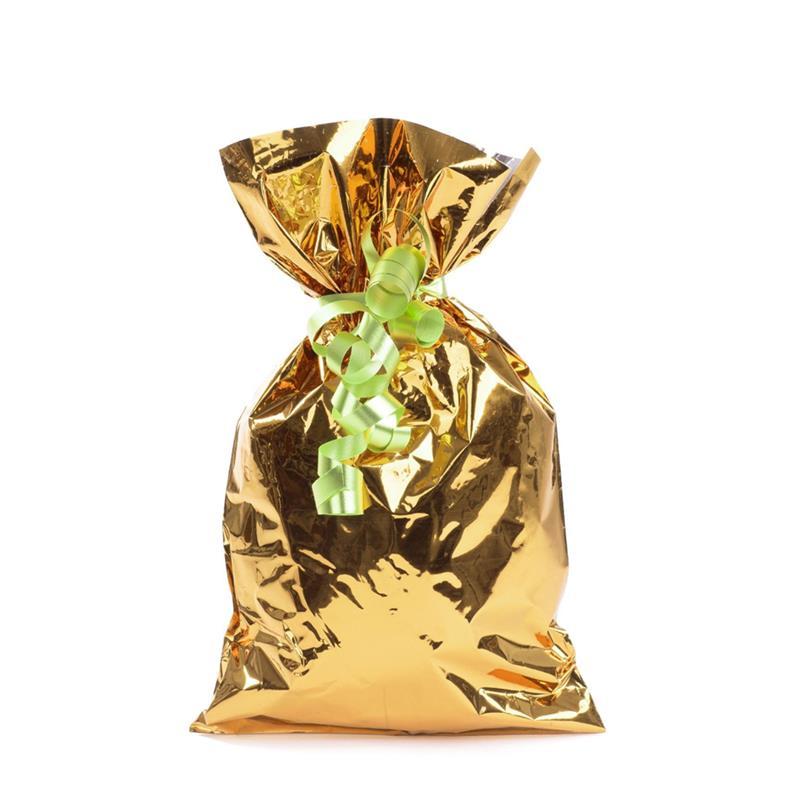 sacchetto in plp oro metal senza maniglia