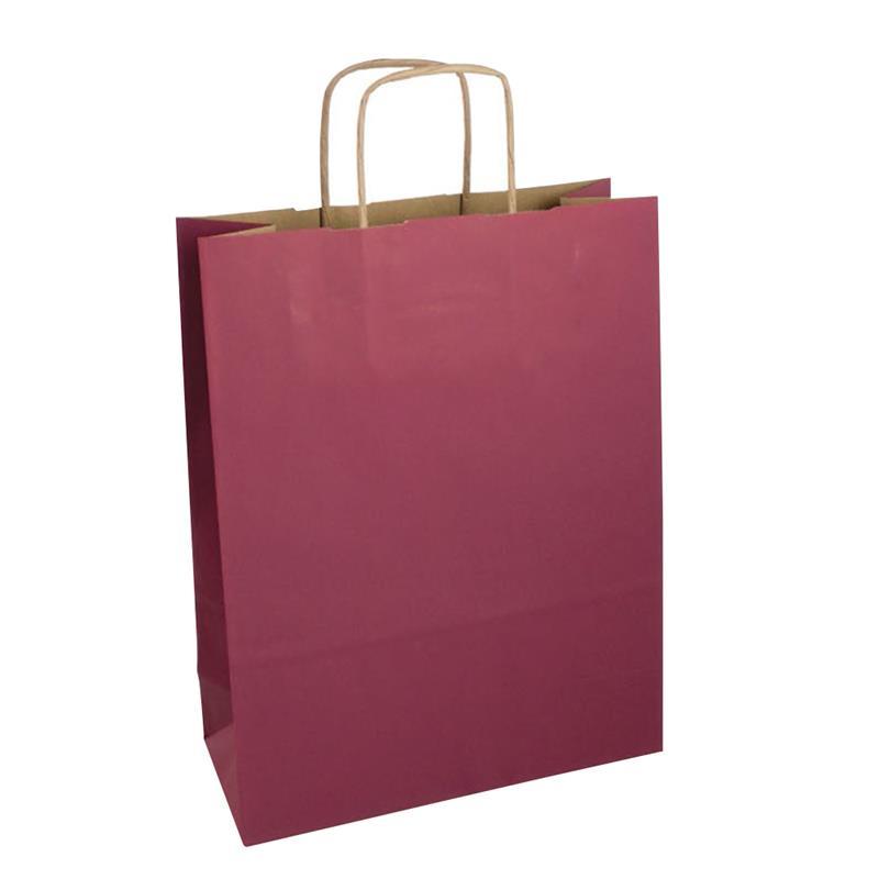 shopper in carta riciclata avana vinaccia manico cordino