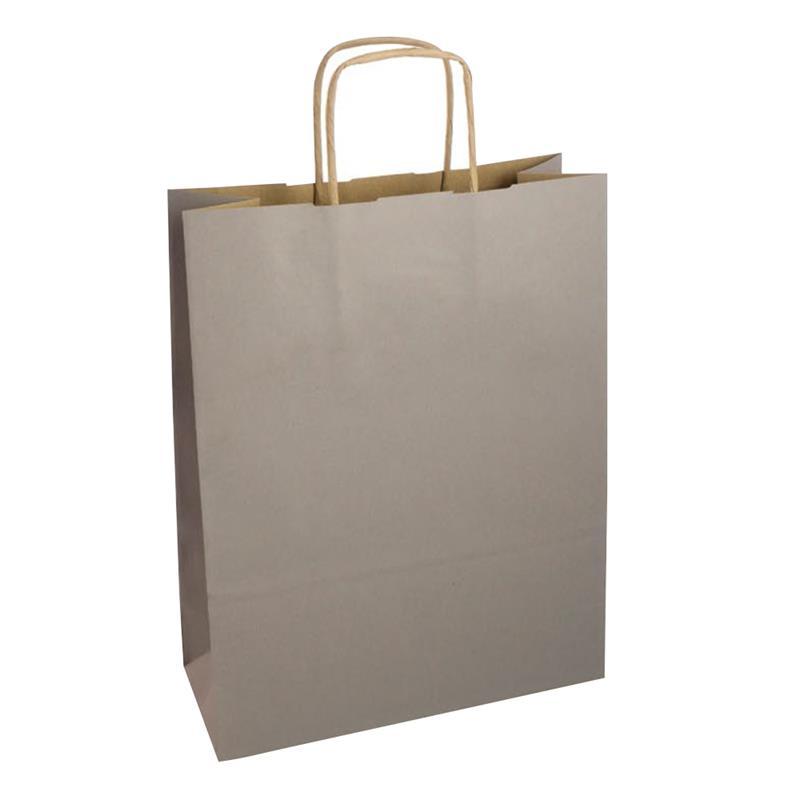 shopper in carta riciclata avana grigio manico cordino