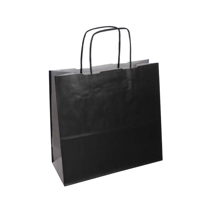 shopper bicolore carta kraft nero/argento manico cordino