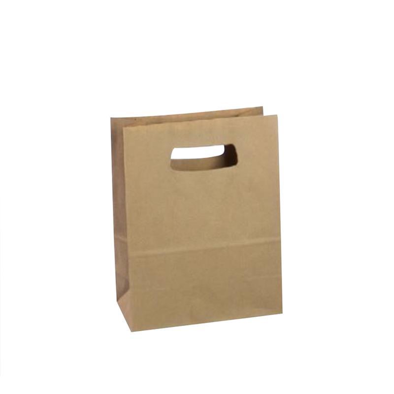 shopper in carta avana riciclato con manico fustellato