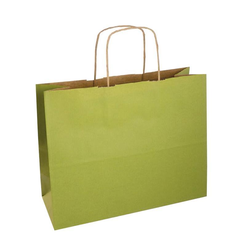 shopper sealing avana stampa lime manici carta ritorta