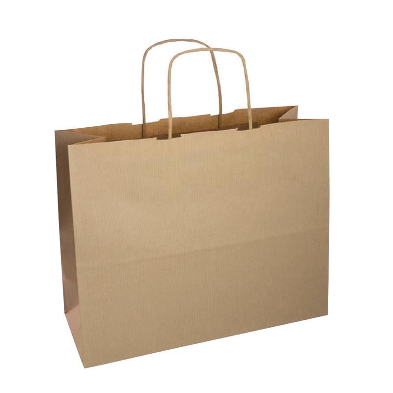 shopper sealing avana stampa sabbia manici carta ritorta