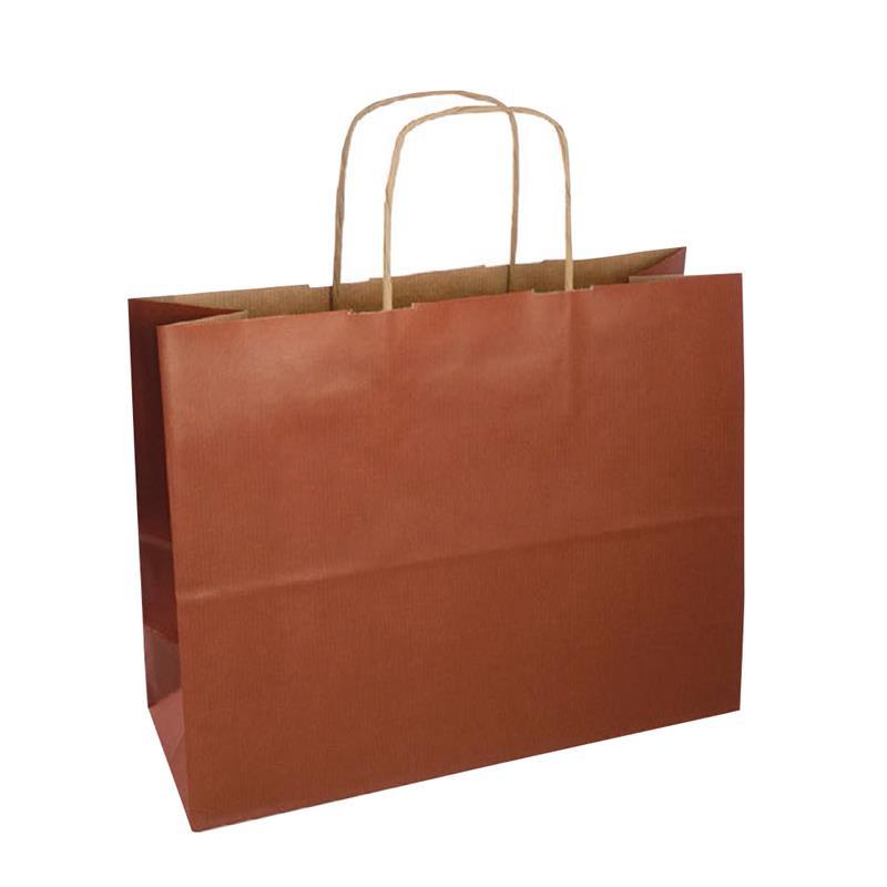 shopper sealing avana stampa terra di siena manici carta ritorta