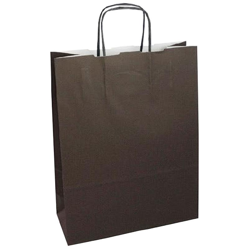 shopper in carta kraft marrone manico cordino