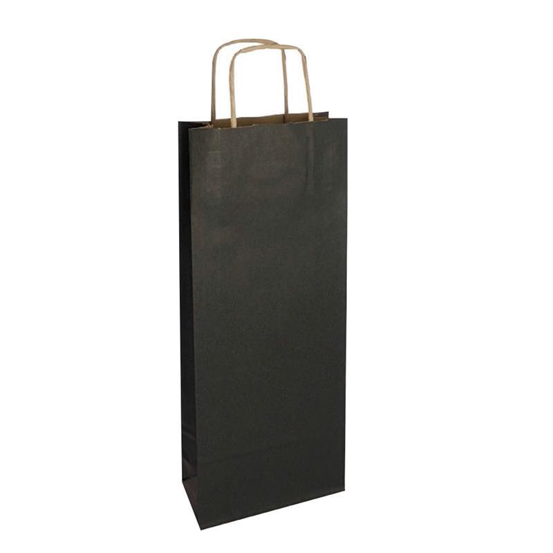 shopper vino in carta riciclata avana nero manico cordino avana