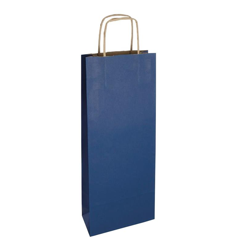 shopper vino in carta riciclata avana blu manico cordino avana