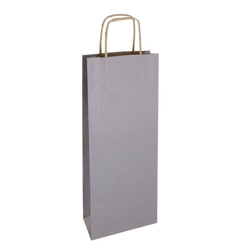 shopper vino in carta riciclata avana grigio manico cordino avana
