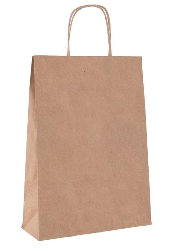 shopper in carta riciclata avana liscia manico cordino