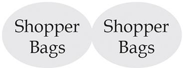 etichetta sagomata ovale doppio trasparente