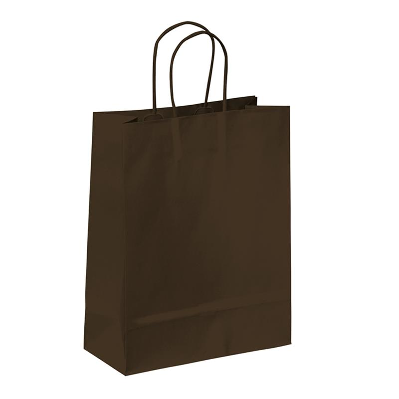 shopper in carta kraft marrone manico cordino