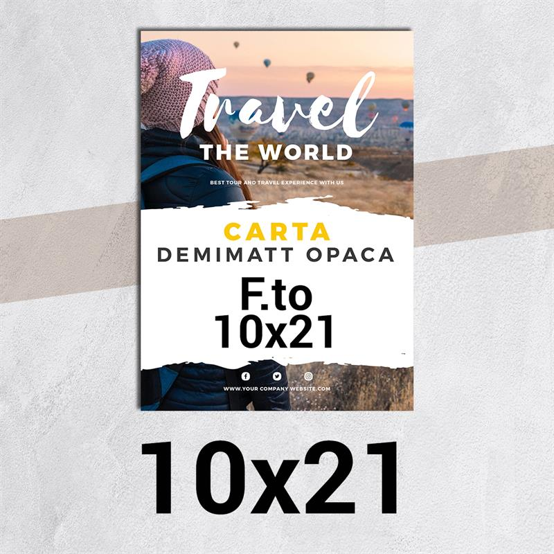 volantini & flyer in carta demimatt patinata opaca f.to 10x21