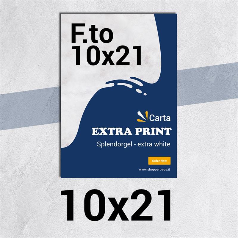 volantini & flyer in carta extraprint splendorgel f.to 10x21