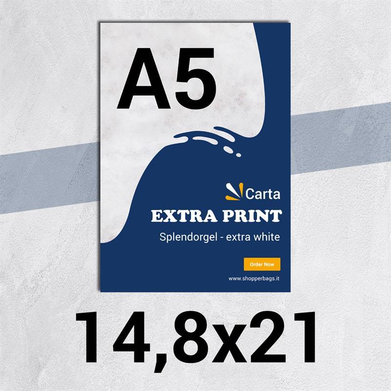 volantini & flyer in carta extraprint splendorgel f.to a5