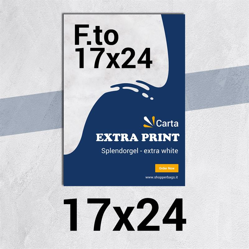 volantini & flyer in carta extraprint splendorgel f.to 17x24