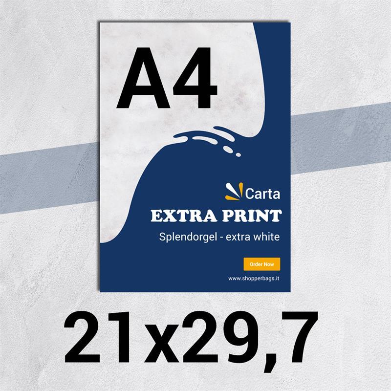 volantini & flyer in carta extraprint splendorgel f.to a4