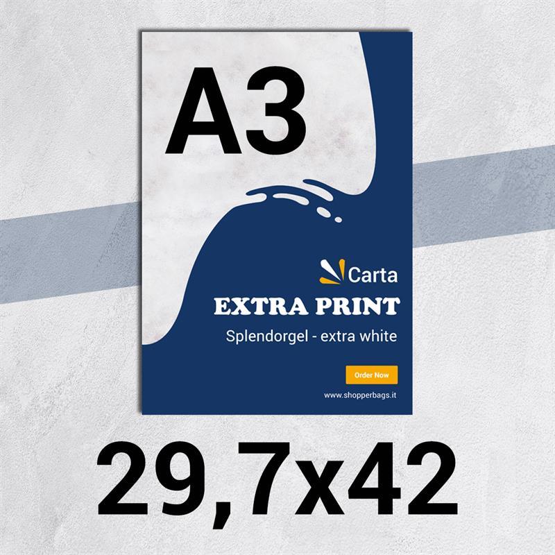 volantini & flyer in carta extraprint splendorgel f.to a3