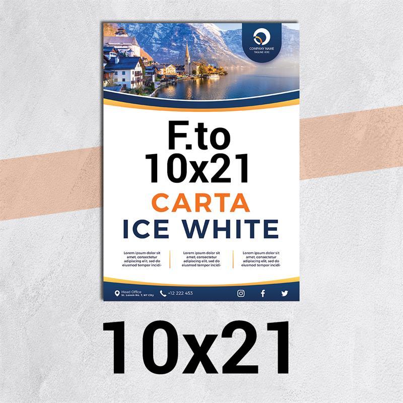volantini & flyer in carta ice white f.to 10x21