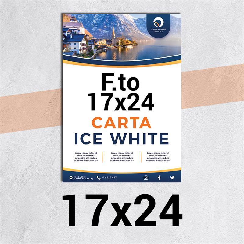 volantini & flyer in carta ice white f.to 17x24
