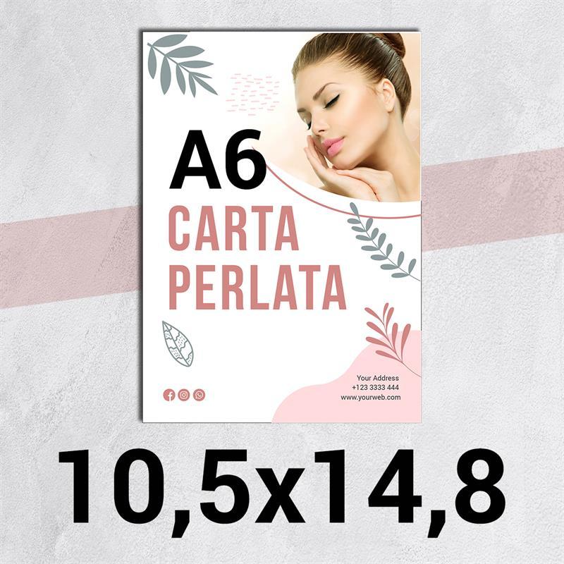 volantini & flyer in carta perlata f.to a6