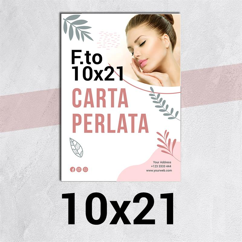 volantini & flyer in carta perlata f.to 10x21