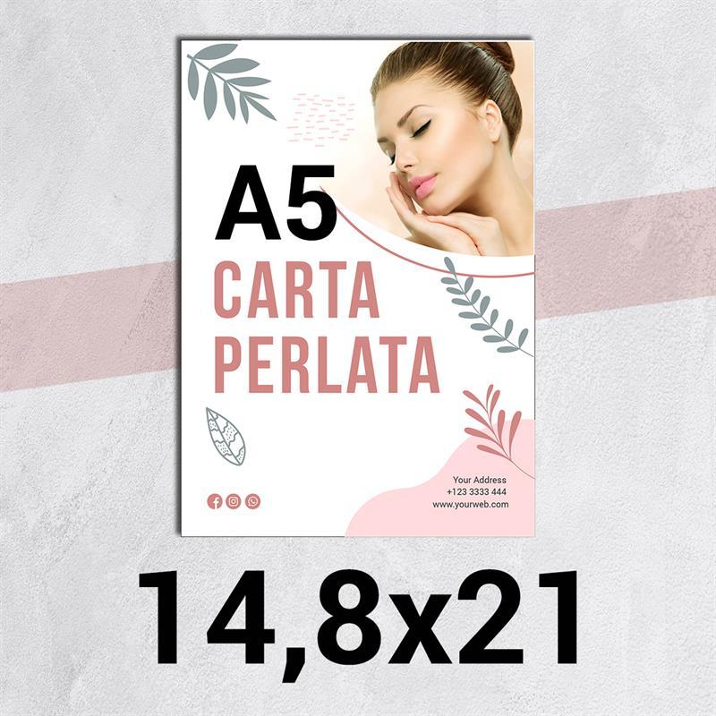 volantini & flyer in carta perlata f.to a5