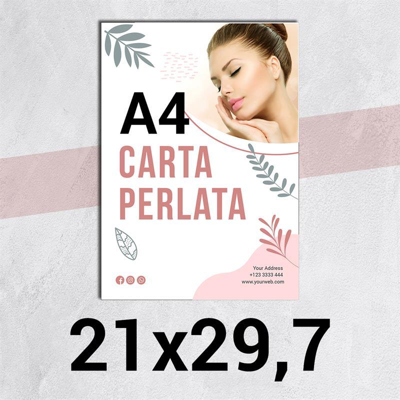 volantini & flyer in carta perlata f.to a4
